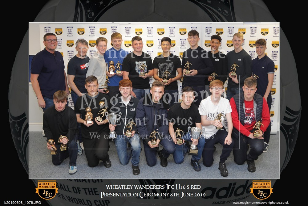 The Wheatley Wanderers JFC Annual Presentations Ceromony 2019